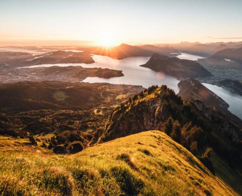 Pilatus mit Blick Richtung Luzern